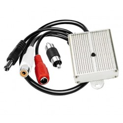 Микрофон для видеонаблюдения с тонкой подстройкой в алюминиевом корпусе анти вандальный взрывозащищенный LONGOOD1216